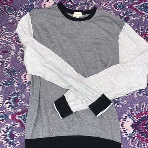 Club Monaco colorblock gray crewneck sweater